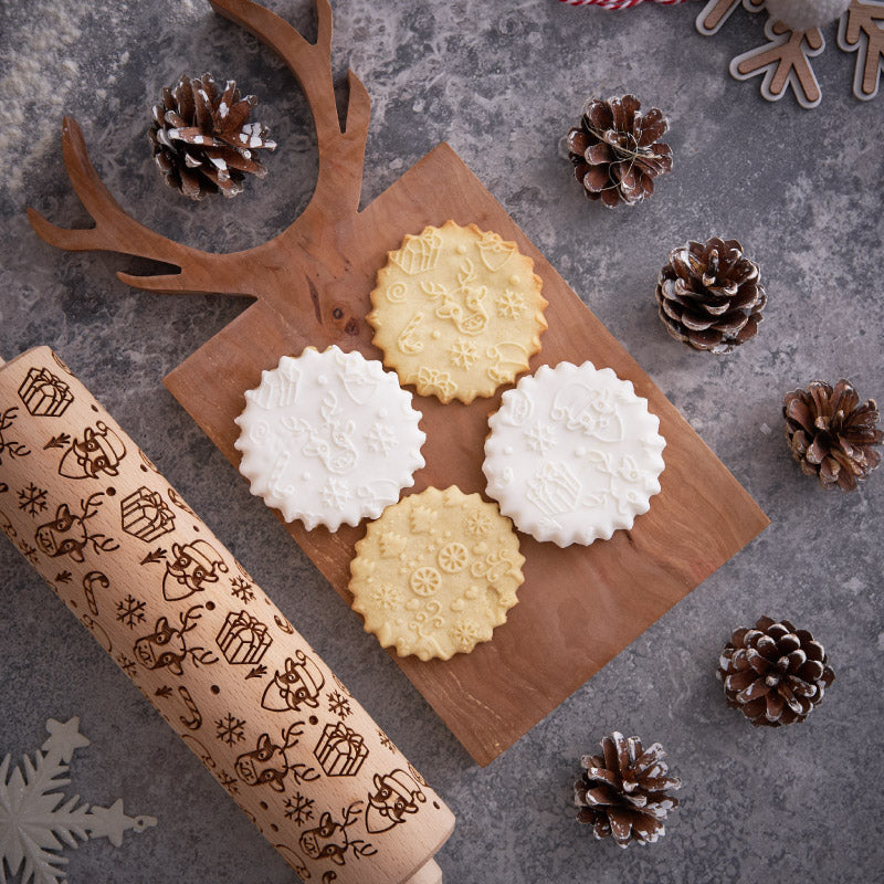 CHRISTMAS MOO ROLLING PIN