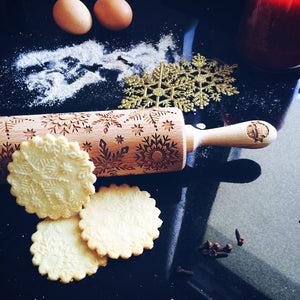 Snowflakes Embossed Rolling Pin Pastrymade