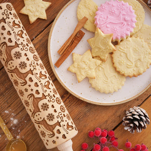 HAPPY CHRISTMAS ROLLING PIN