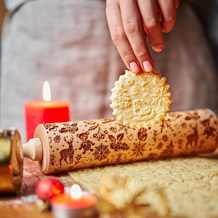 CHRISTMAS JOY ROLLING PIN