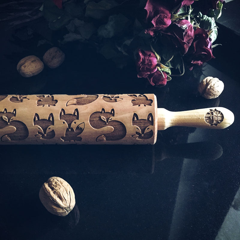 FOXES ROLLING PIN - pastrymade