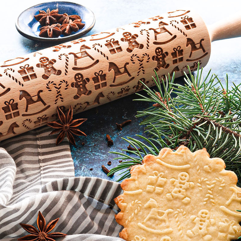GINGERBREAD MEN ROLLING PIN - pastrymade