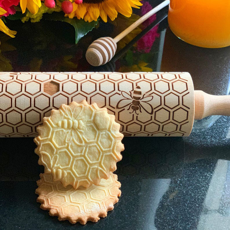 HONEYCOMB ROLLING PIN - pastrymade