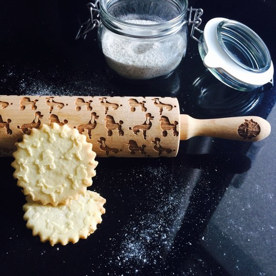 POODLE ROLLING PIN