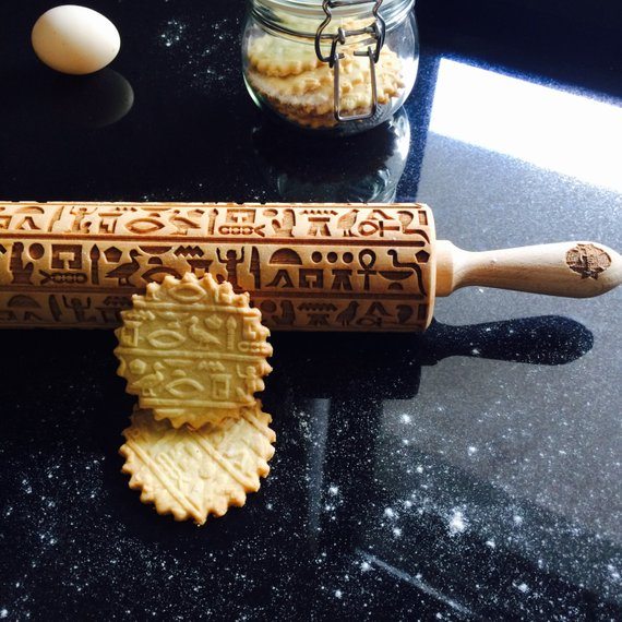 HIEROGLYPHS ROLLING PIN - pastrymade