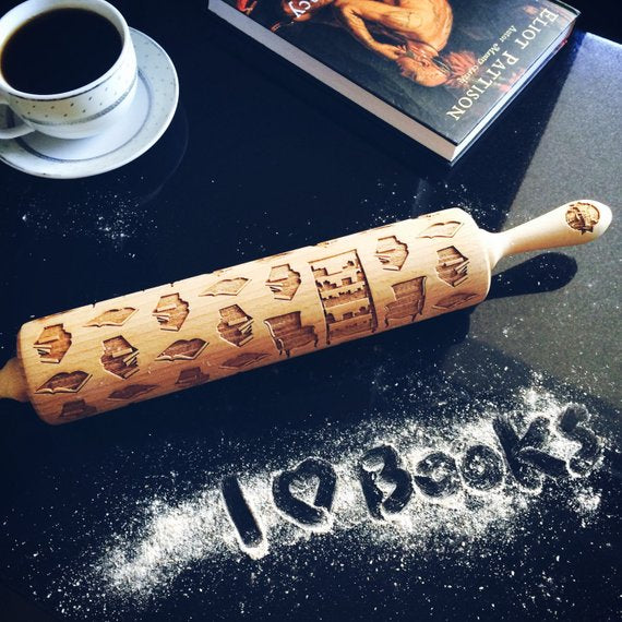 BOOKS ROLLING PIN - pastrymade