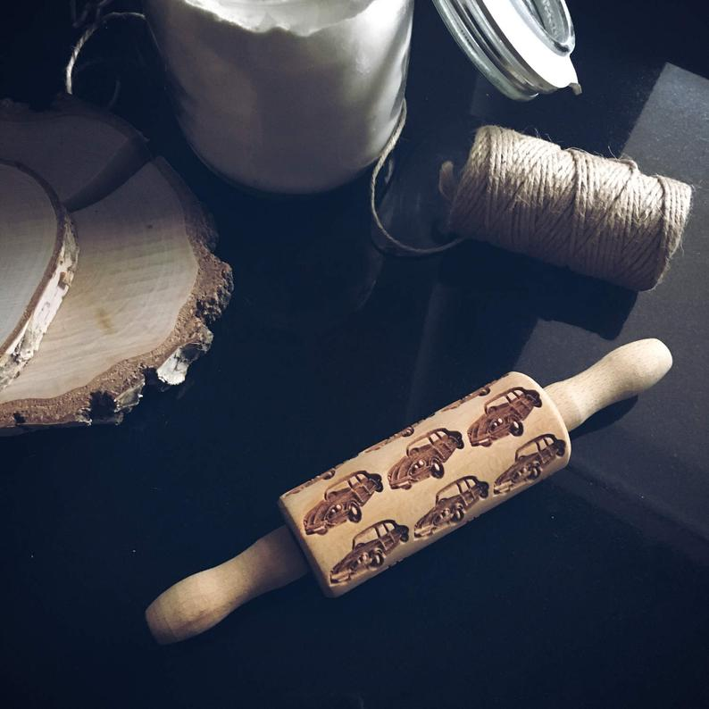 OLD CARS KIDS ROLLING PIN - pastrymade