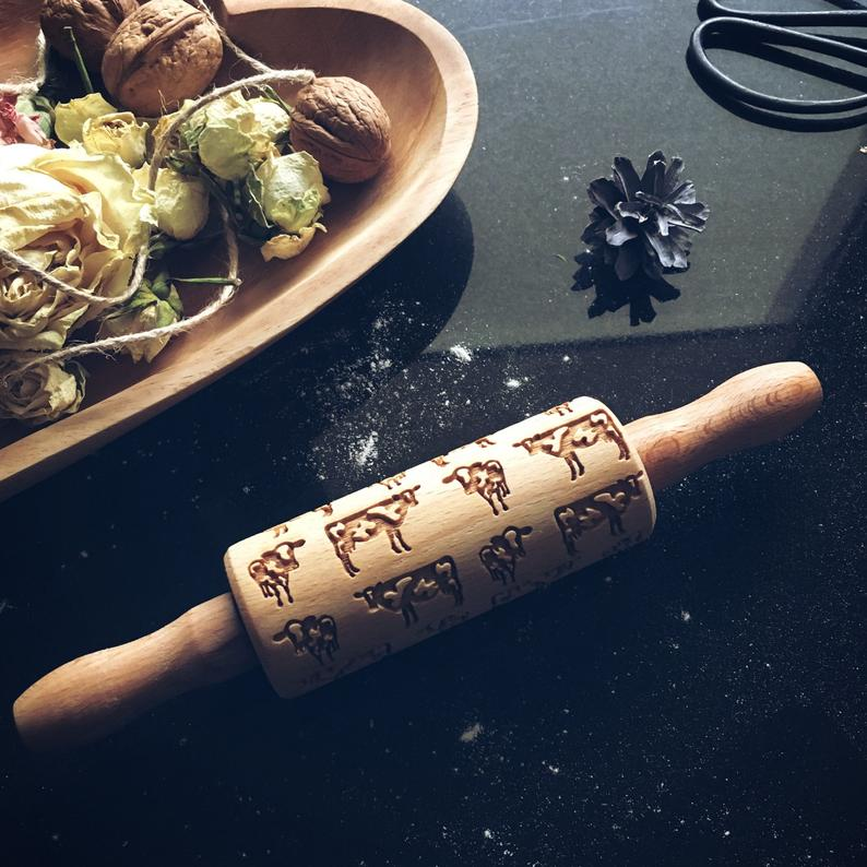 COWS KIDS ROLLING PIN - pastrymade