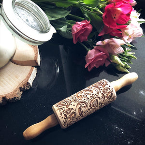 FLORAL PAISLEY KIDS ROLLING PIN - pastrymade