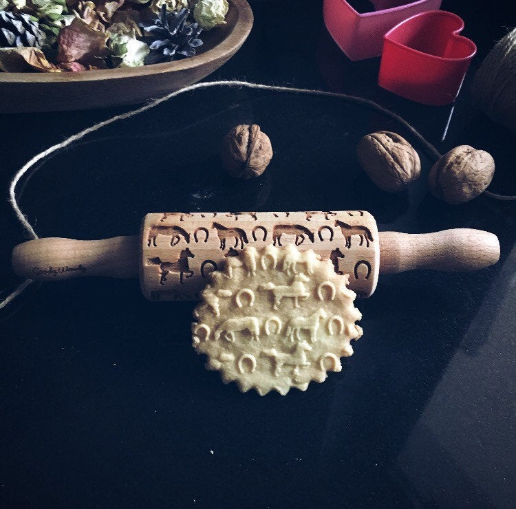 HORSES KIDS ROLLING PIN - pastrymade