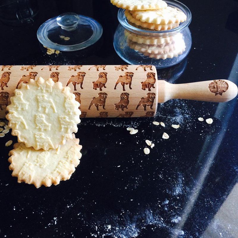 PUGS ROLLING PIN - pastrymade