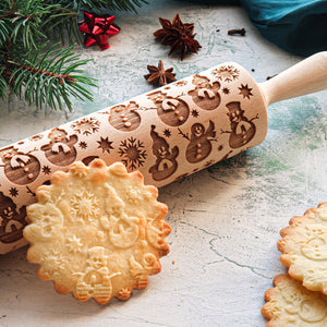 SNOWMEN ROLLING PIN - pastrymade