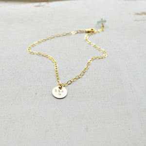 Sea Stamped Charm Anklet