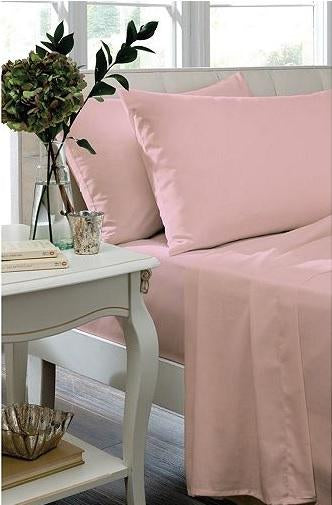 Percale non-iron sheeting, Candy Pink, 3 sizes