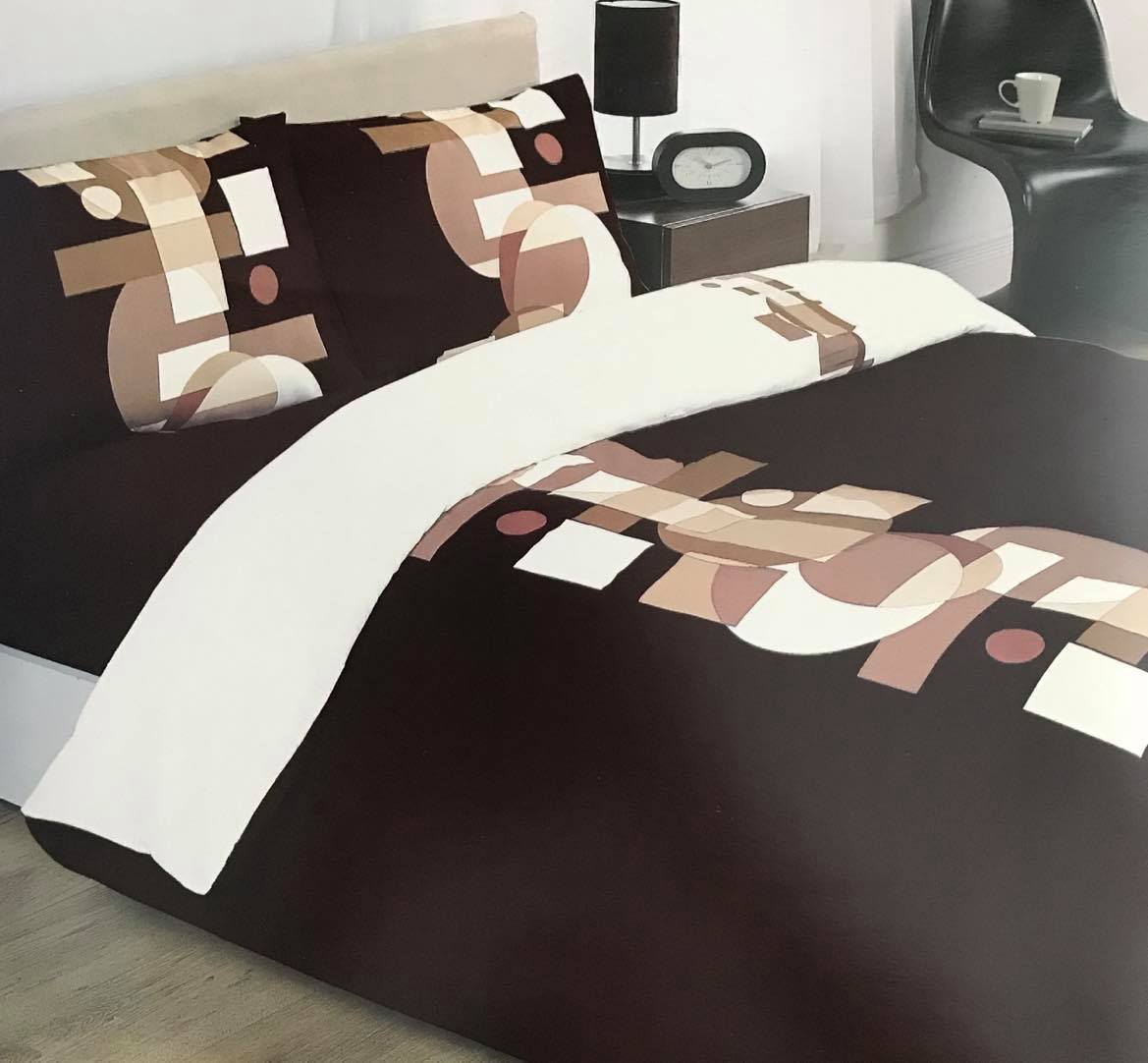 Denver Chocolate, Single Duvet Set, 90cms