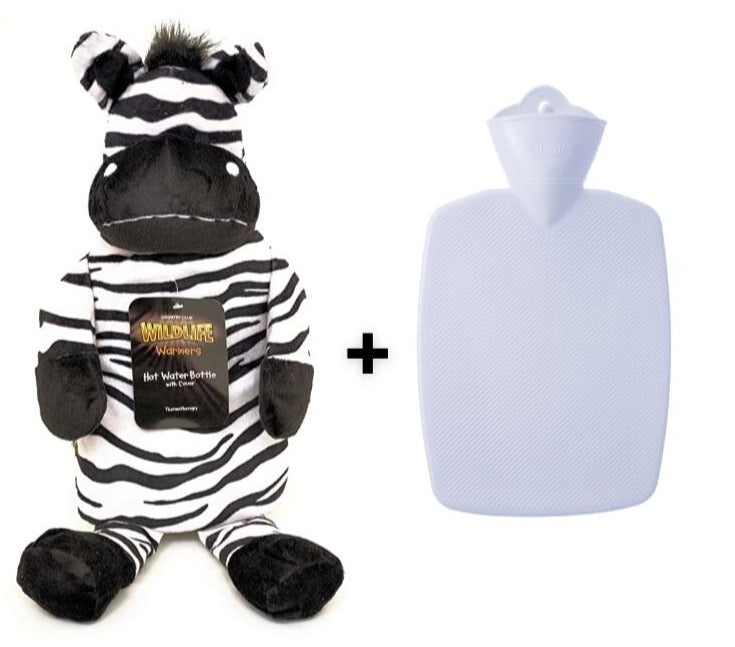 Hot Water Bottles with Cover, Zebra
