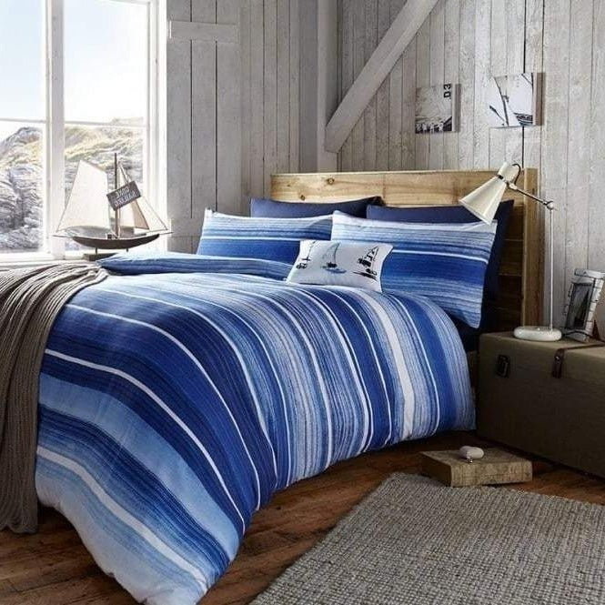 Costal Stripe - Duvet set, Blue