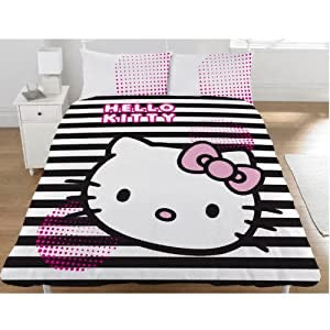 Hello Kitty Black & White Stripes - Duvet set