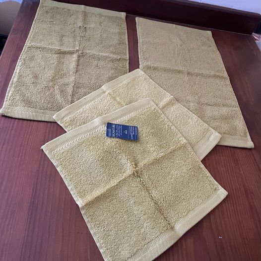 600g Cotton Towels, Mustard
