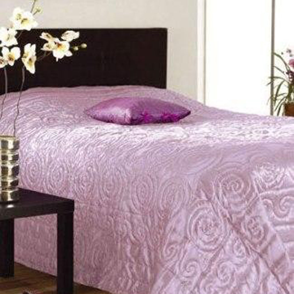Floral Lightweight Bedspread Lilac 235 x 260cms