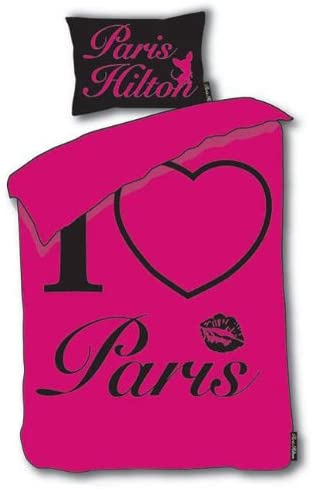 Paris Hilton 'I Love Paris' - Duvet set, Pink