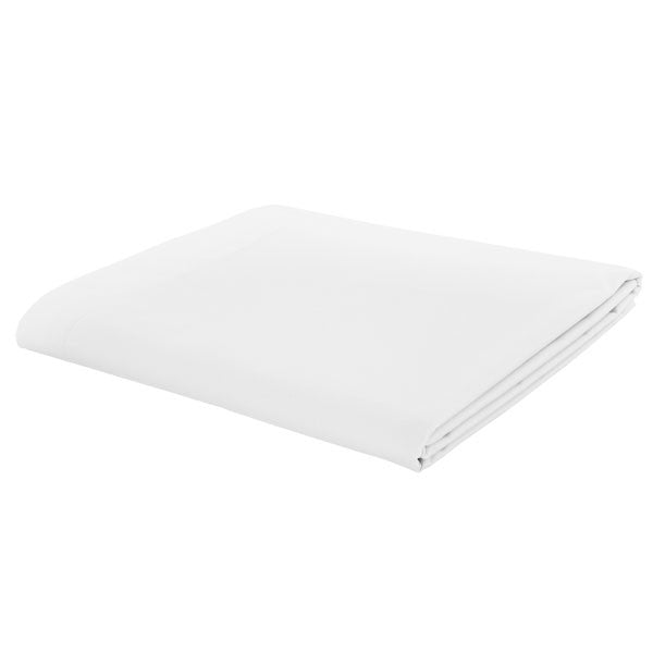 Catherine Lansfield, Combed Percale Non-Iron Sheeting, White, 3 sizes