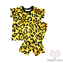 Load image into Gallery viewer, Yellow Leopard Short Set