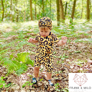 Yellow Leopard Short Set