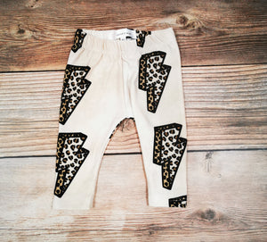 Leopard Bolt Leggings