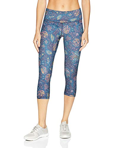 prAna Pillar Printed Capri, Small, Blue Sierra