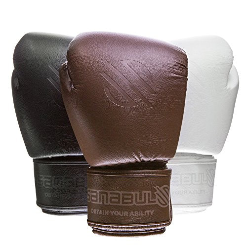 Sanabul Battle Forged Thai Style Kickboxing Professional Gloves (Brown, 16 oz)
