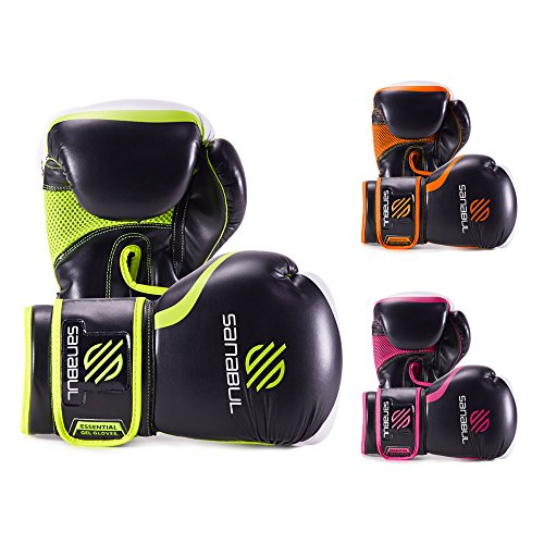 ESSENTIAL BOXING GLOVES GREEN 14-OZ