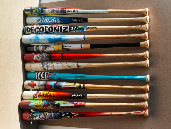 Bunky Echo-Hawk Artist Series Bat Auction