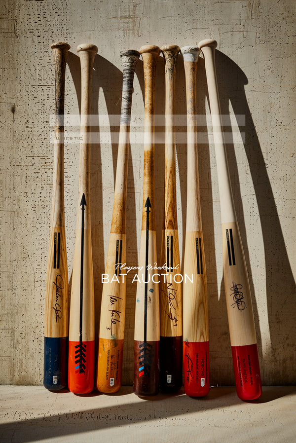 Player's Weekend Artist Series Bat Auction for Causes.
