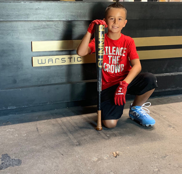 Gunner with his Gunner Metal Bat