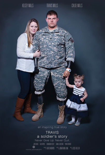 "Poster art for ""Travis: A Soldier's Story"" documentary about SSG Travis Mills"