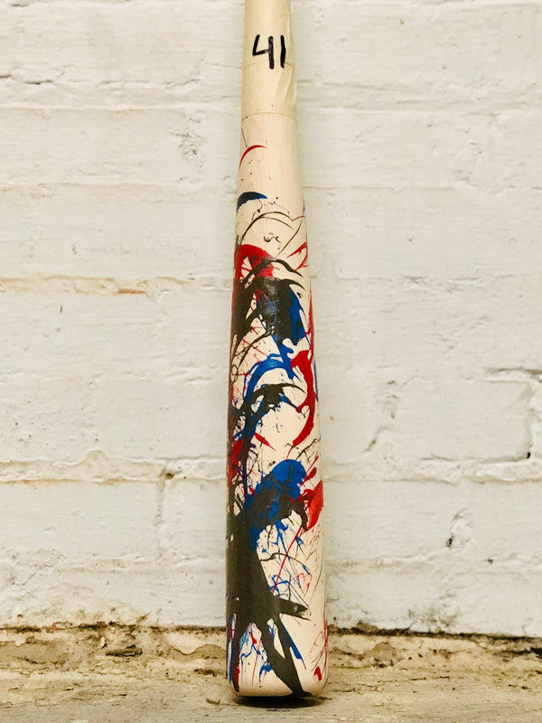 Art of Hitting - Red/Blue/Gray by Ben Jenkins Bat No 041, [prouduct_type], [Warstic]