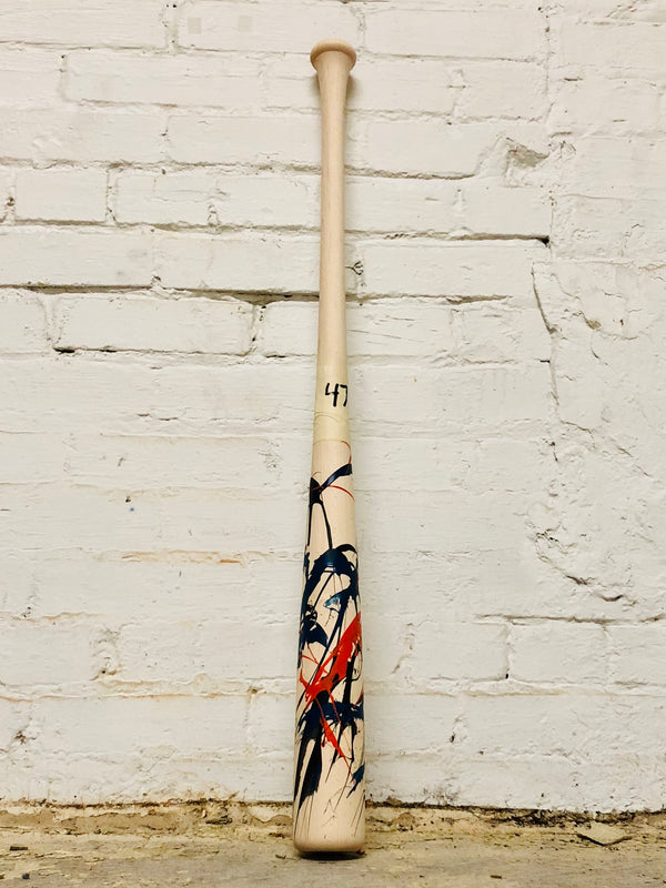 Art of Hitting - Black/Navy/Orange by Ben Jenkins Bat No 047, [prouduct_type], [Warstic]