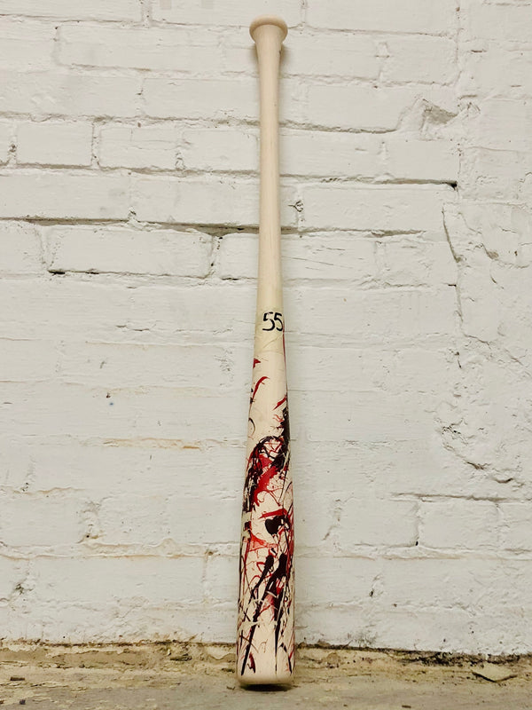 Art of Hitting - Maroon/Red/White by Ben Jenkins Bat No 055, [prouduct_type], [Warstic]