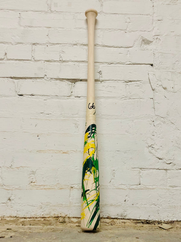 Art of Hitting - Dark Green/Green/Yellow by Ben Jenkins Bat No 066, [prouduct_type], [Warstic]