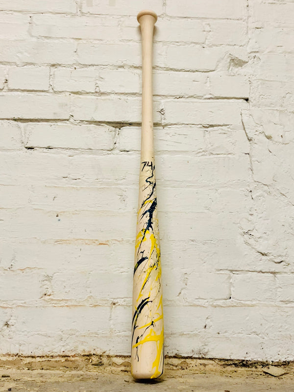 Art of Hitting - Yellow/White/Navy by Ben Jenkins Bat No 074, [prouduct_type], [Warstic]