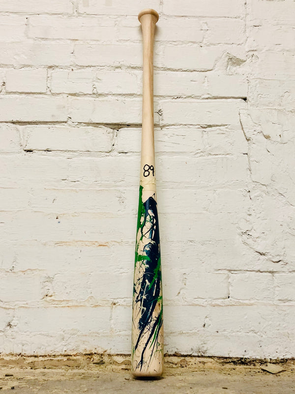 Art of Hitting - Green/Navy/White by Ben Jenkins Bat No 089, [prouduct_type], [Warstic]