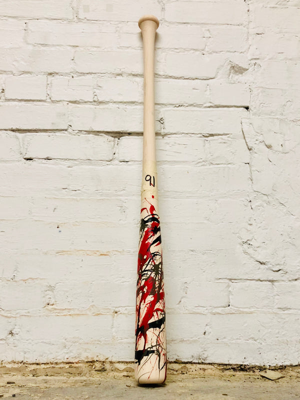 Art of Hitting - Red/Gray/Black by Ben Jenkins Bat No 091, [prouduct_type], [Warstic]