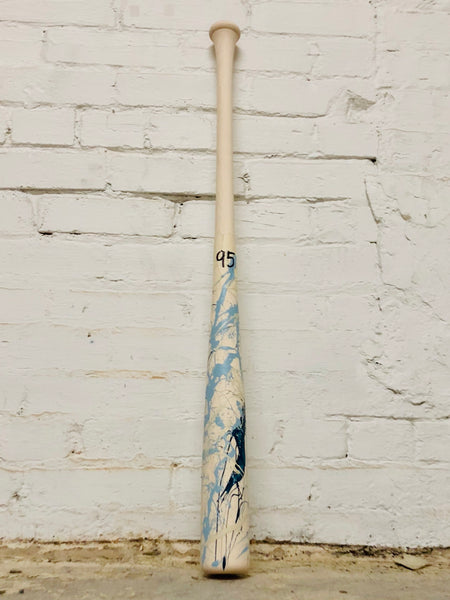 Art of Hitting - Lt Blue/Navy/White by Ben Jenkins Bat No 095, [prouduct_type], [Warstic]