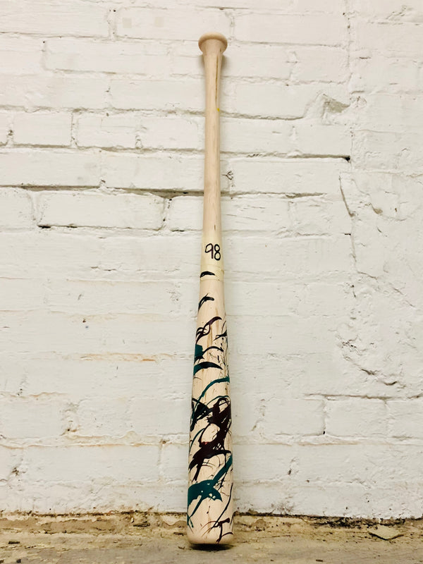 Art of Hitting - Maroon/Teal/Black by Ben Jenkins Bat No 098, [prouduct_type], [Warstic]