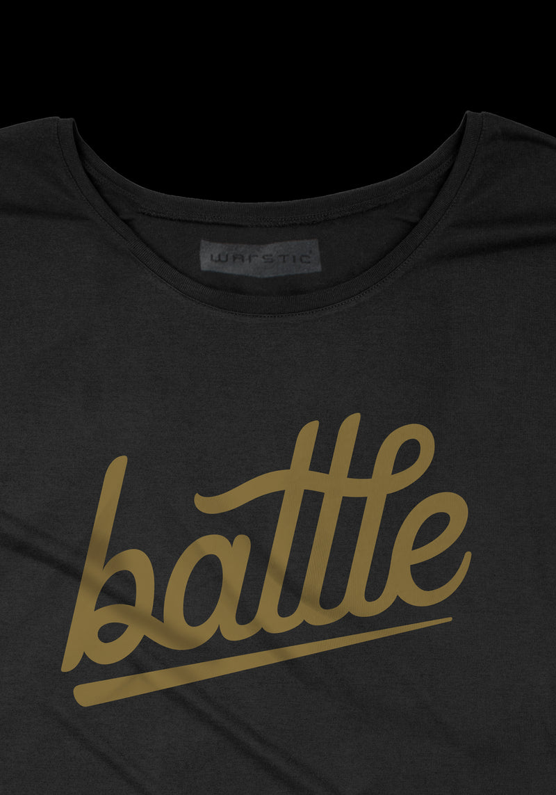 BATTLE WOMEN'S TEE (BLACK), [prouduct_type], [Warstic]