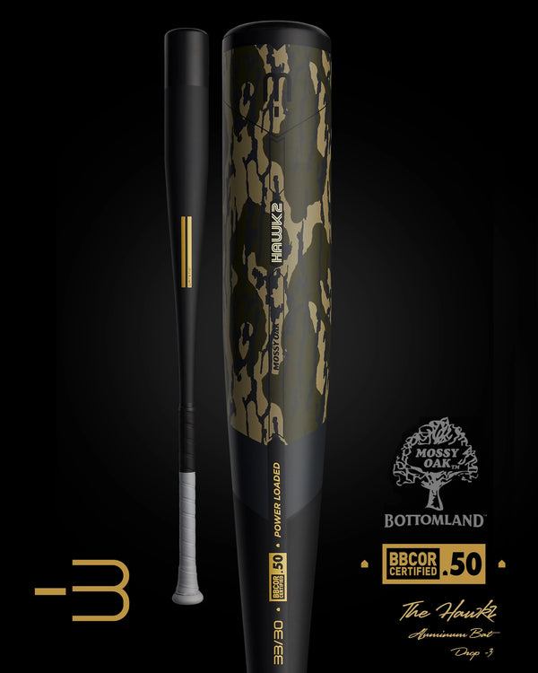 THE 2021 HAWK2 MOSSY OAK EDITION BBCOR METAL BASEBALL BAT