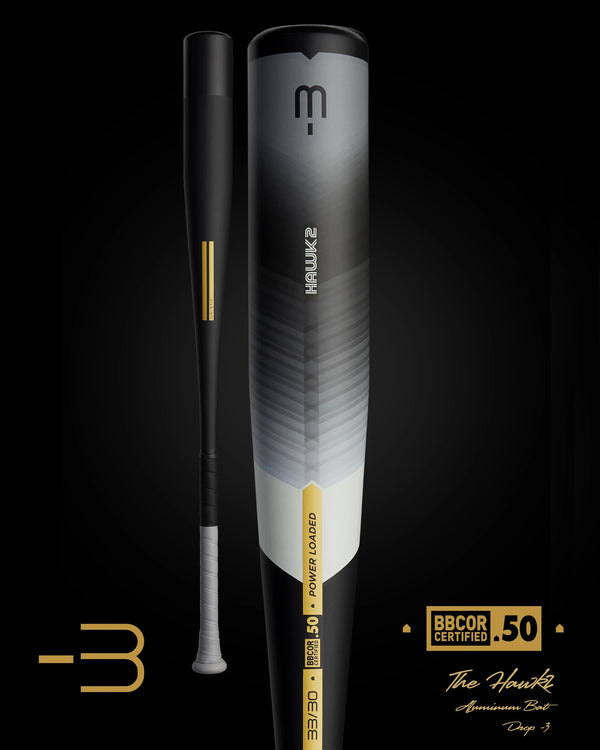 THE 2021 HAWK2 BBCOR METAL BASEBALL BAT
