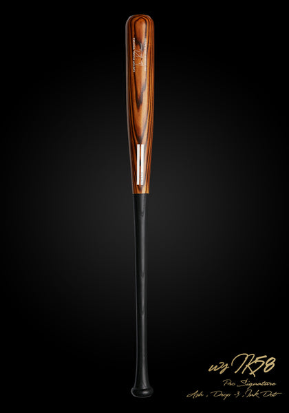 Ian Kinsler WSIK58 Stocked Warrior Flame Ash Pro Signature Wood Bat, [prouduct_type], [Warstic]