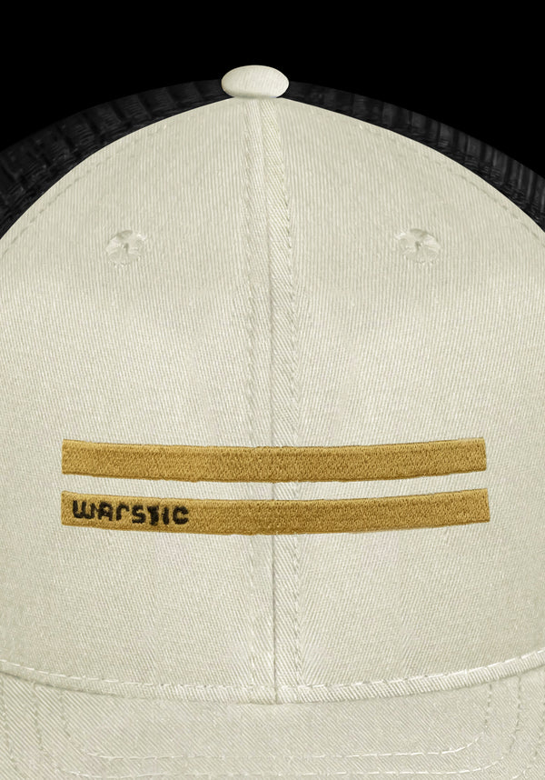 OFF SEASON SNAPBACK OFF WHITE/BLACK (GOLD WARSTRIPE), [prouduct_type], [Warstic]